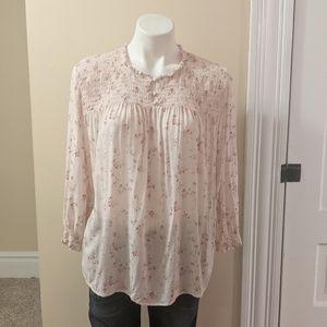 💘 Cynthia Rowley pink floral top.